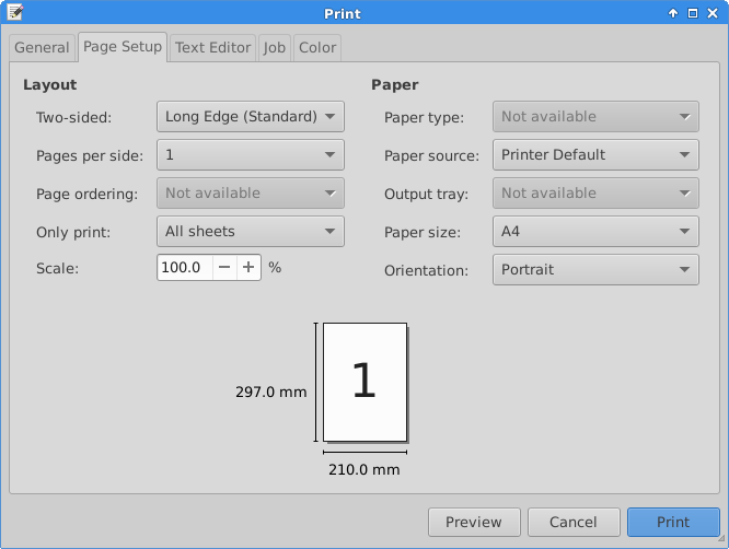 Click The Page Setup Tab Select Single Sided Or Two Printing Portrait Landscape Orientation And Print